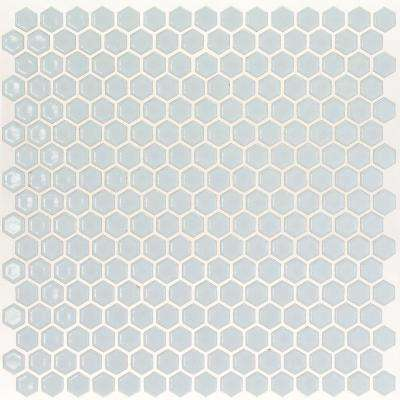 Bliss Edged Hexagon Modern Gray 12 in. x 12 in. x 10 mm Polished Ceramic Mosaic Tile