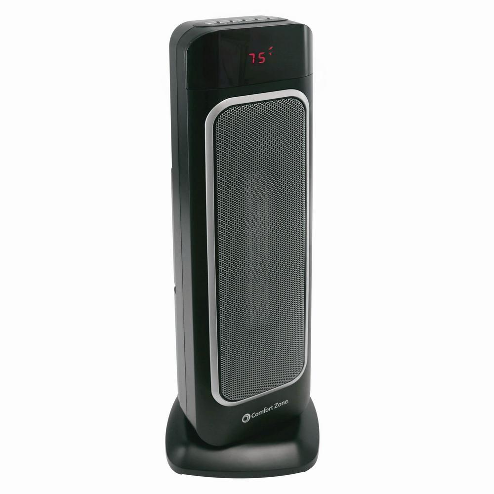 23 in. Oscillating Ceramic Tower Heater