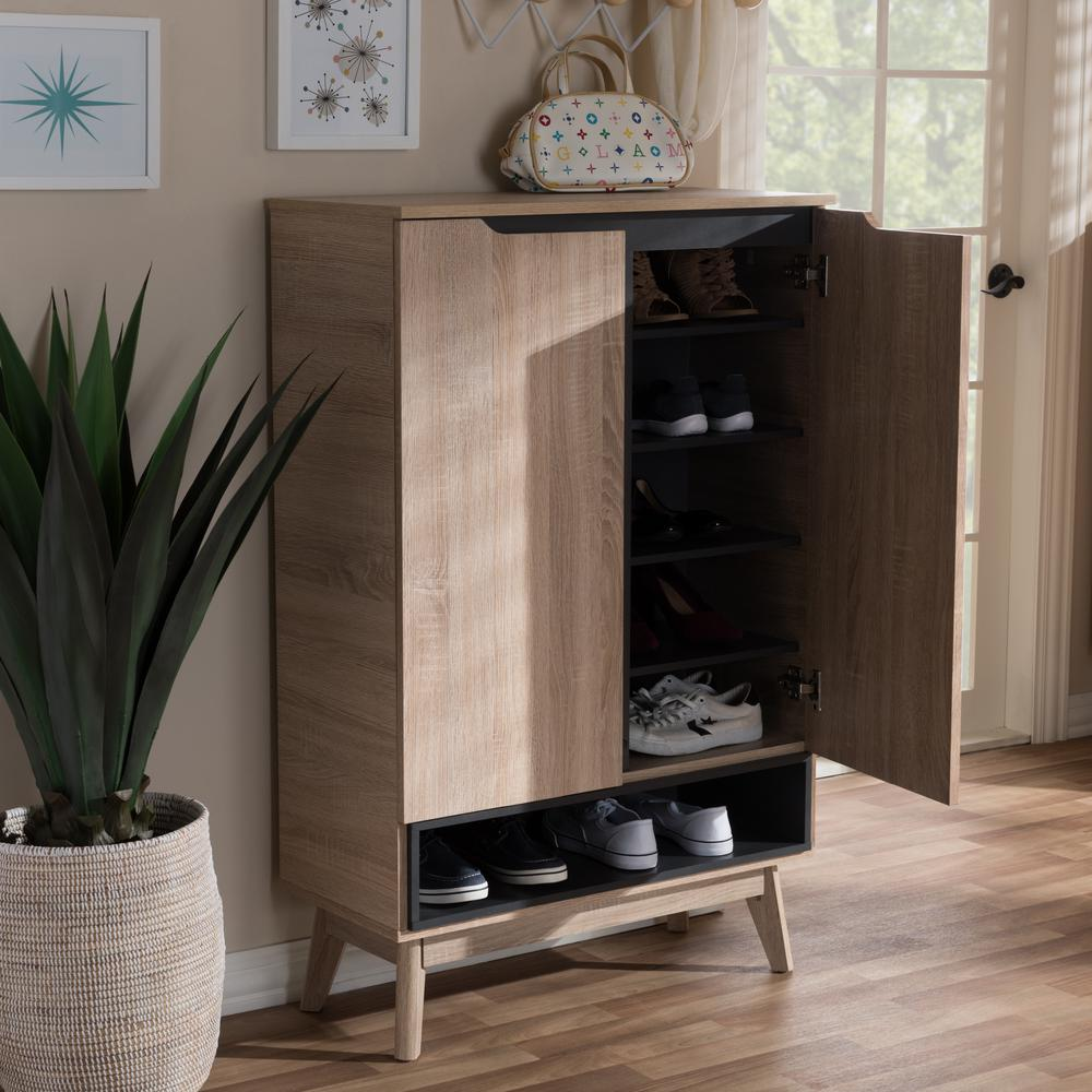 Fella Light Brown Wood Storage Cabinet