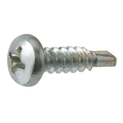 #8 x 5/8 in. Zinc-Plated Pan-Head Phillips Self-Drilling Drive Sheet Metal Screw (100-Piece)