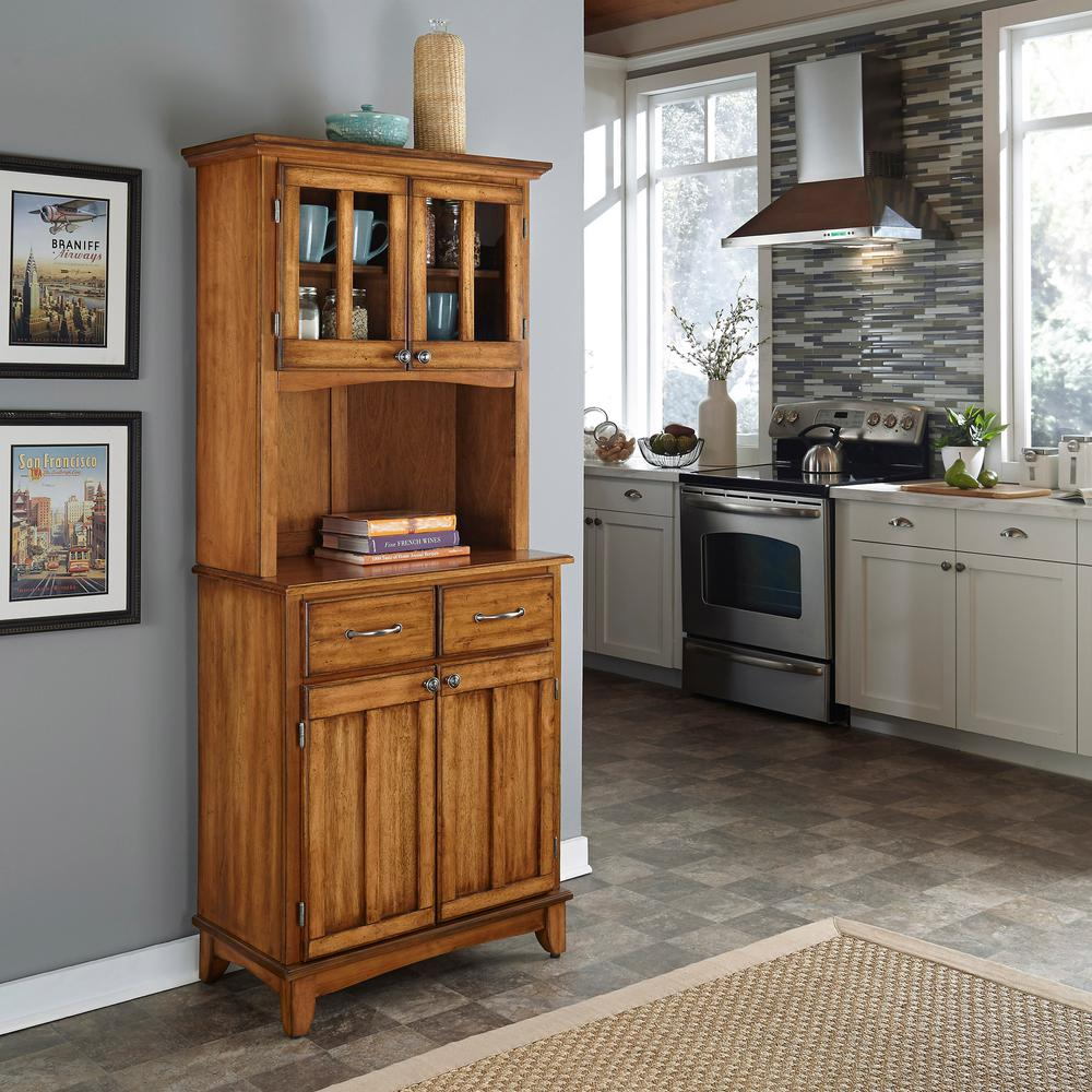 Home Styles Cottage Oak Buffet With Hutch 5001 0066 62