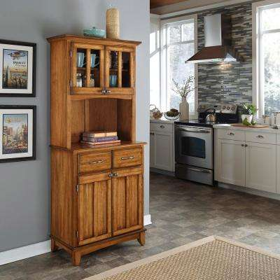 Wonderful Cottage Oak Buffet With Hutch