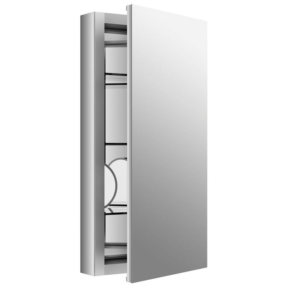 KOHLER Verdera 15 In. W X 30 In. H Recessed Medicine Cabinet In Anodized