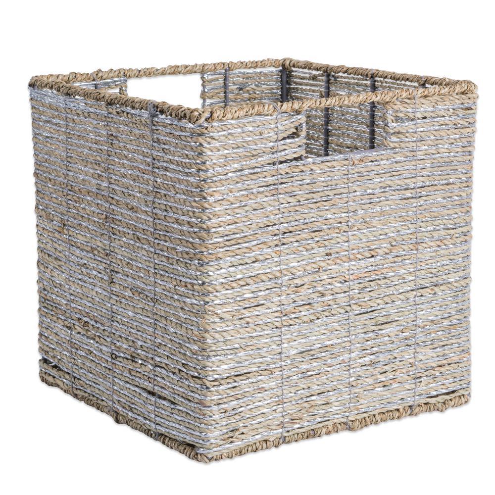 Square Woven Seagrass Decorative Bin