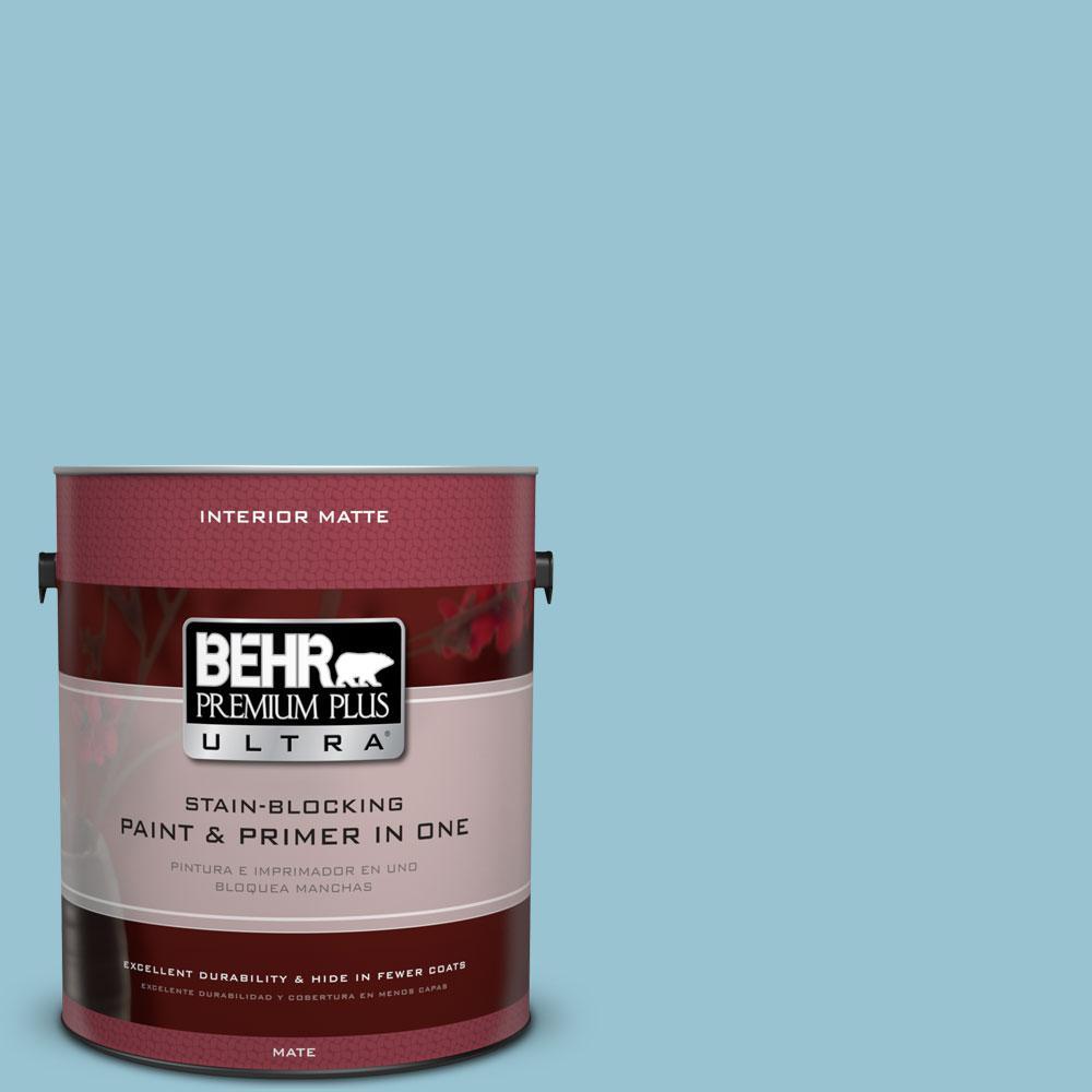 BEHR Premium Plus Ultra 1 gal. #520E-3 Velvet Morning Flat/Matte Interior Paint