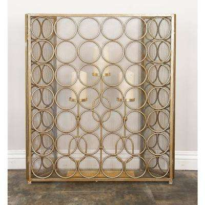 Home and Hearth 3-Panel Circle Trellis Fire Screen