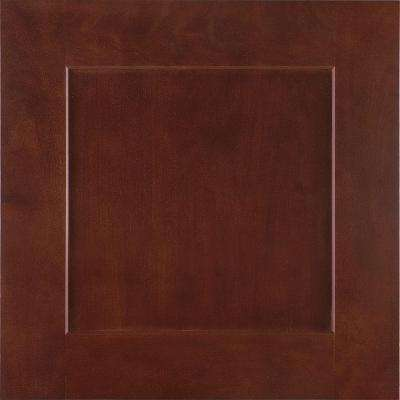 14-9/16x14-1/2 in. Reading Cherry Cabinet Door Sample in Bordeaux
