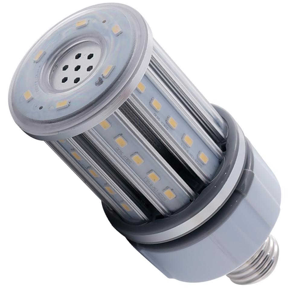 Halco Lighting Technologies 70-Watt Equivalent 15-Watt Corn Cob ED17 HID LED Post Top Bypass Utility Light Bulb Med 120-277V Cool White 4000K 84002