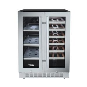 21 Bottle Wine And 60 Can French Door Seamless Stainless Steel