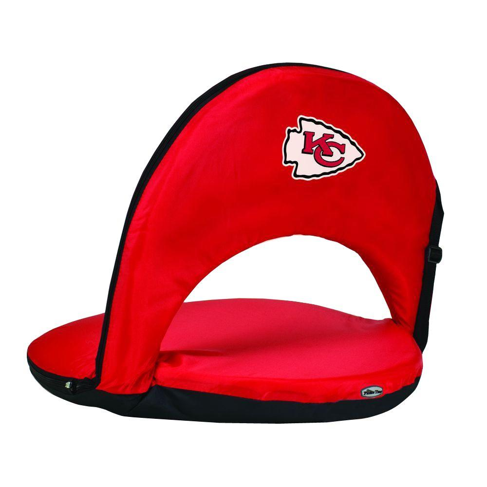 Oniva Kansas City Chiefs Red Patio Sports Chair with Digital Logo