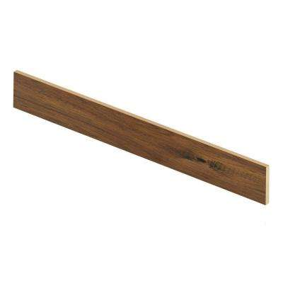 Crestview Hickory 47 in. Long x 1/2 in. Deep x 7-3/8 in. Height Vinyl Riser to be Used with Cap A Tread