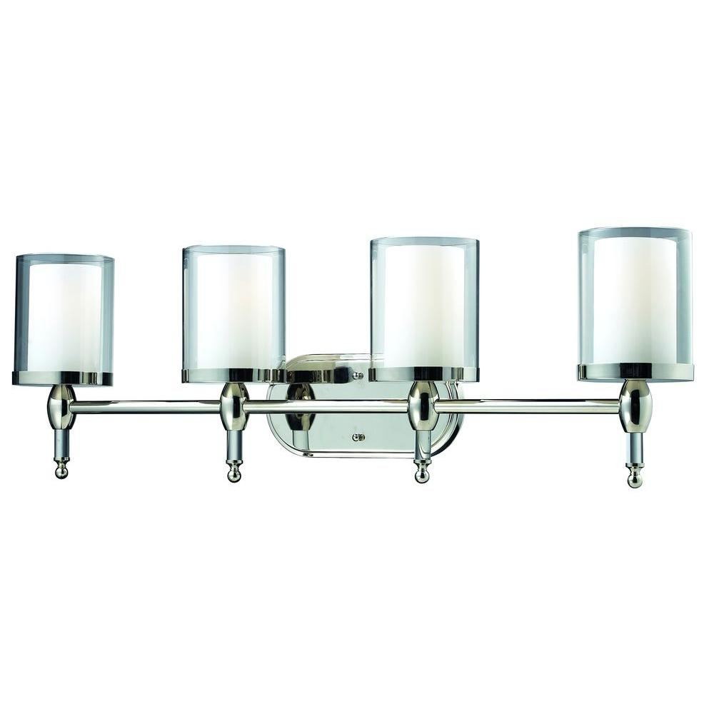 Lawrence 4-Light Chrome Incandescent Wall Vanity Light