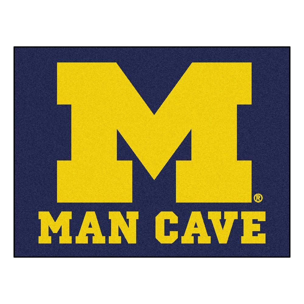 University of Michigan Blue Man Cave 3 ft. x 4 ft. Area Rug