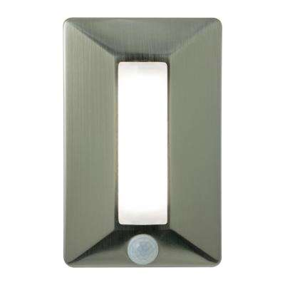 Enbrighten Battery-Operated Wireless Motion-Activated Dimmable LED Brushed Nickel Task Light