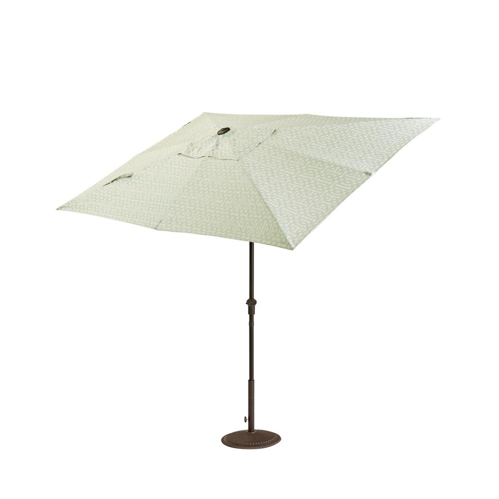 home decorators collection camden 10 ft. x 6 ft. aluminum crank 6 Ft Patio Umbrella