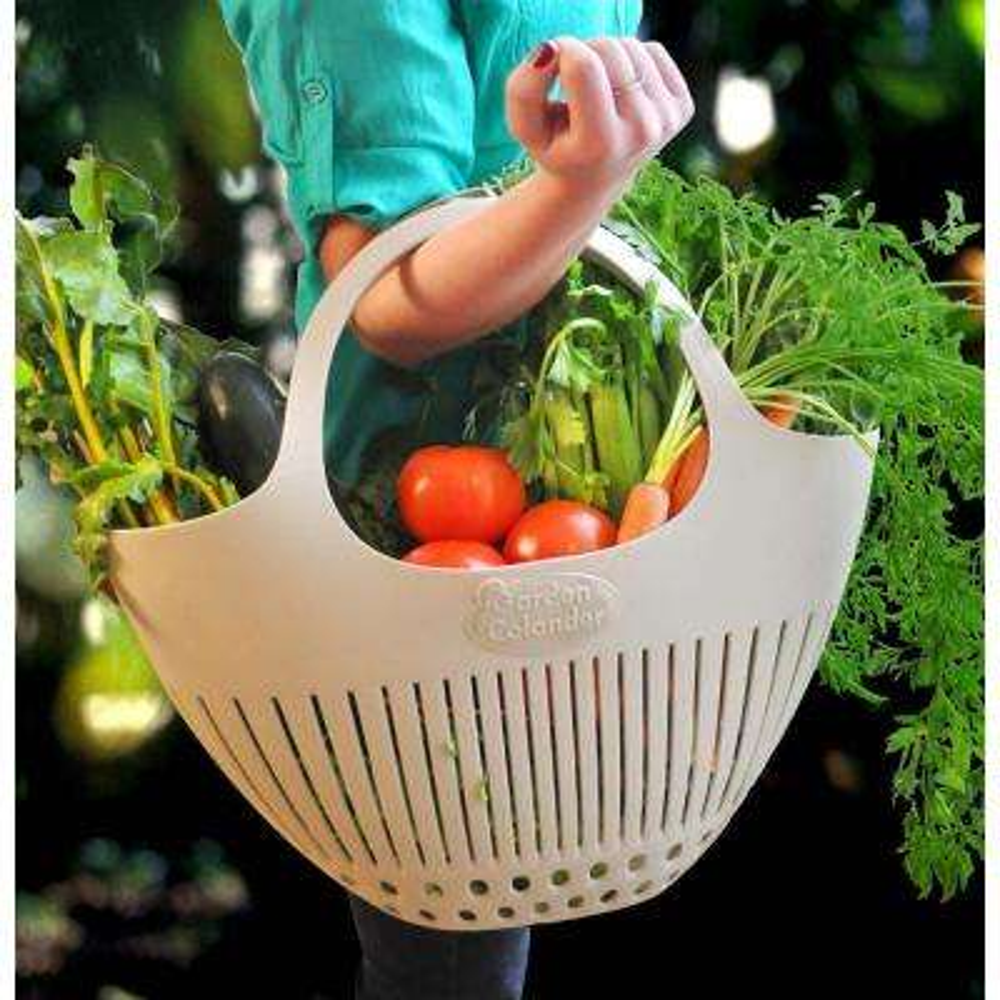 Pink Garden Colander Harvest Basket