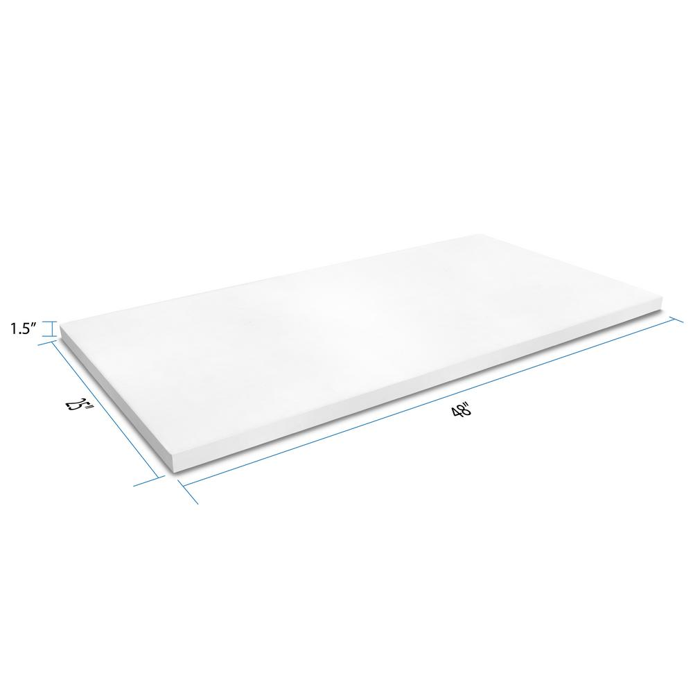 unbranded 4 ft. Solid Surface Countertop in Frost