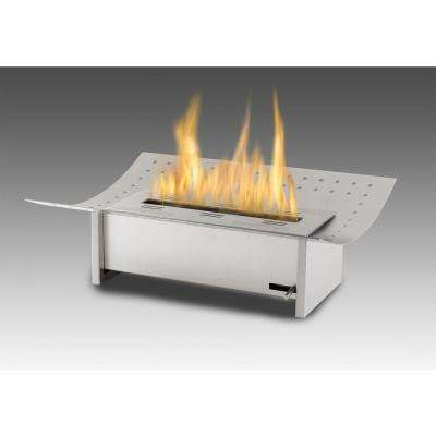 Insert XL 19 in. Ethanol Free Standing Fireplace in Stainless Steel