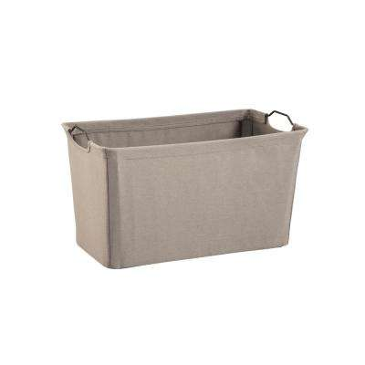 19.5 in. x 11 in. Dark Gray Wire Framed Fabric Bin