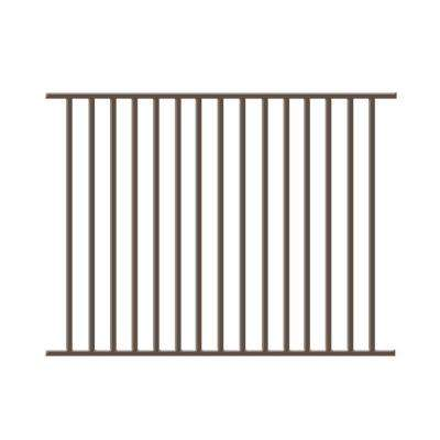 Newtown 4 ft. H x 6 ft. W Bronze Aluminum Pre-Assembled Fence Panel