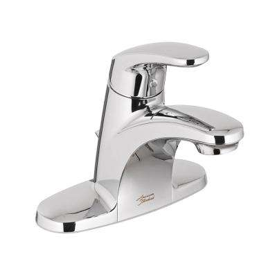 Colony Pro 4 in. Centerset Single-Handle Low-Arc Bathroom Faucet with Pop-Up Assembly in Polished Chrome