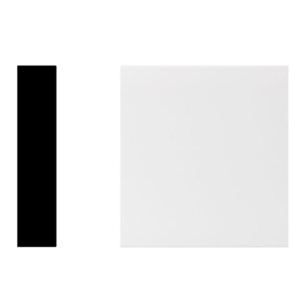 Veranda 7318 1 in. x 4 in. x 96 in. PVC Primed White Trimplank S4S Moulding