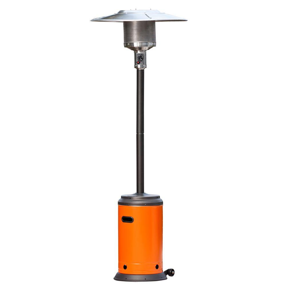 Fire Sense 46,000 BTU Mocha and Tuscan Orange Propane Gas Patio Heater-DISCONTINUED