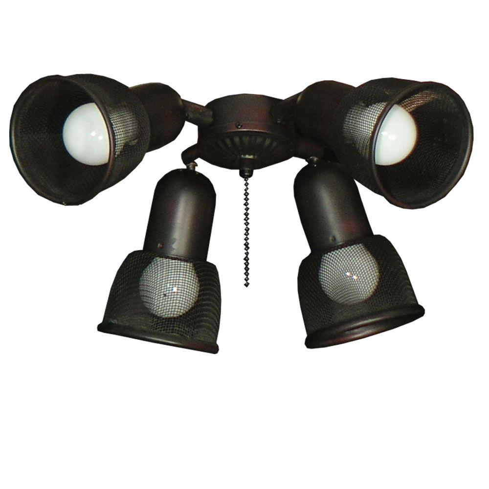 TroposAir 462 Mesh Spotlight Oil Rubbed Bronze Ceiling Fan Light