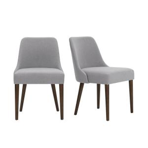 Benfield Sable Brown Wood Upholstered Dining Chair with Stone Gray Seat (Set of 2) (20.6 in. W x 32 in. H)