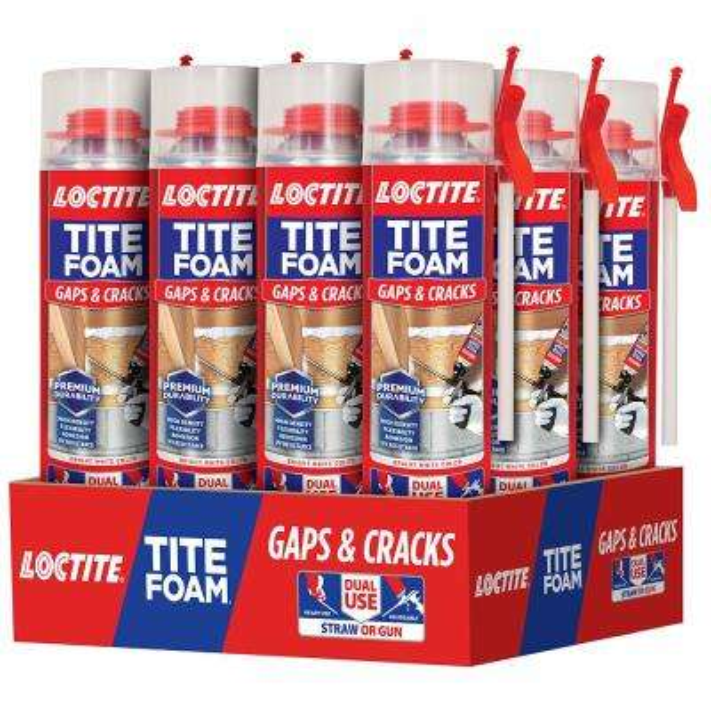 Tite Foam Dual Use Pro Can Gaps and Cracks 19.6 oz. Spray Foam Sealant (12-Pack)