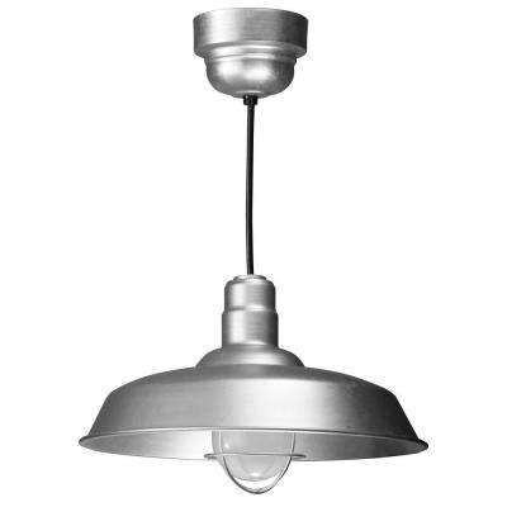 1-Light Ceiling Galvanized Pendant