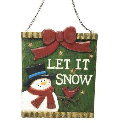 h christmas let it snow light up hanging wall decor - Christmas Chain Decorations