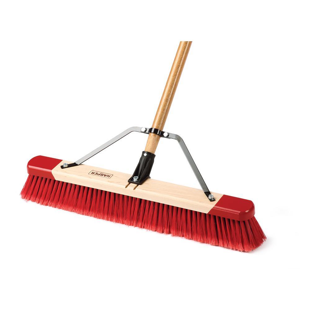 Harper 24 In Easy To Assemble All Purpose Push Broom