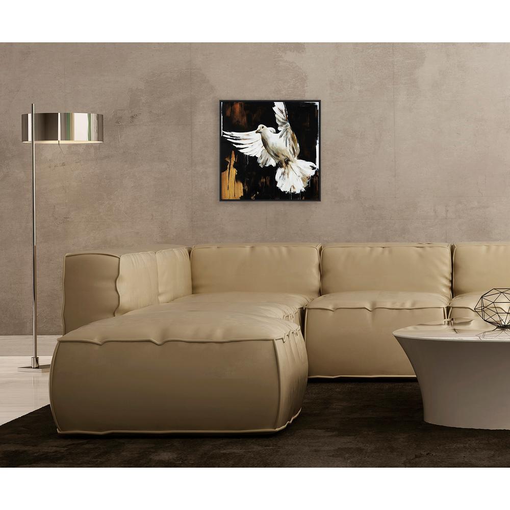 16.75 in. x 16.75 in.''Peaceful Flight'' Framed Canvas Wall Art