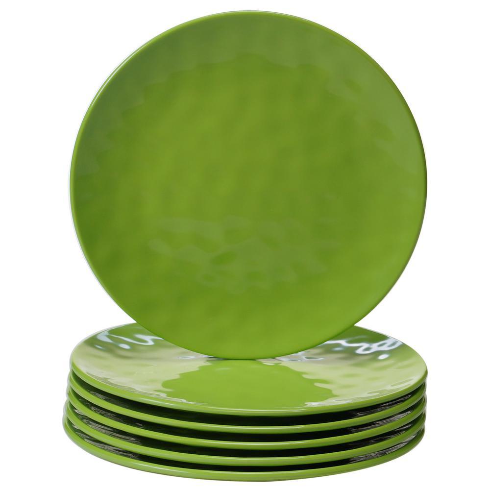 6-Piece Green Salad Plate Set