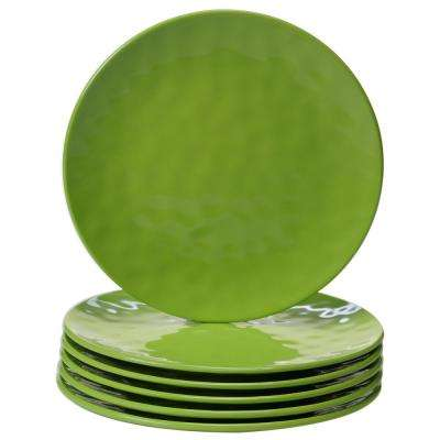 6-Piece Green Salad Plate Set