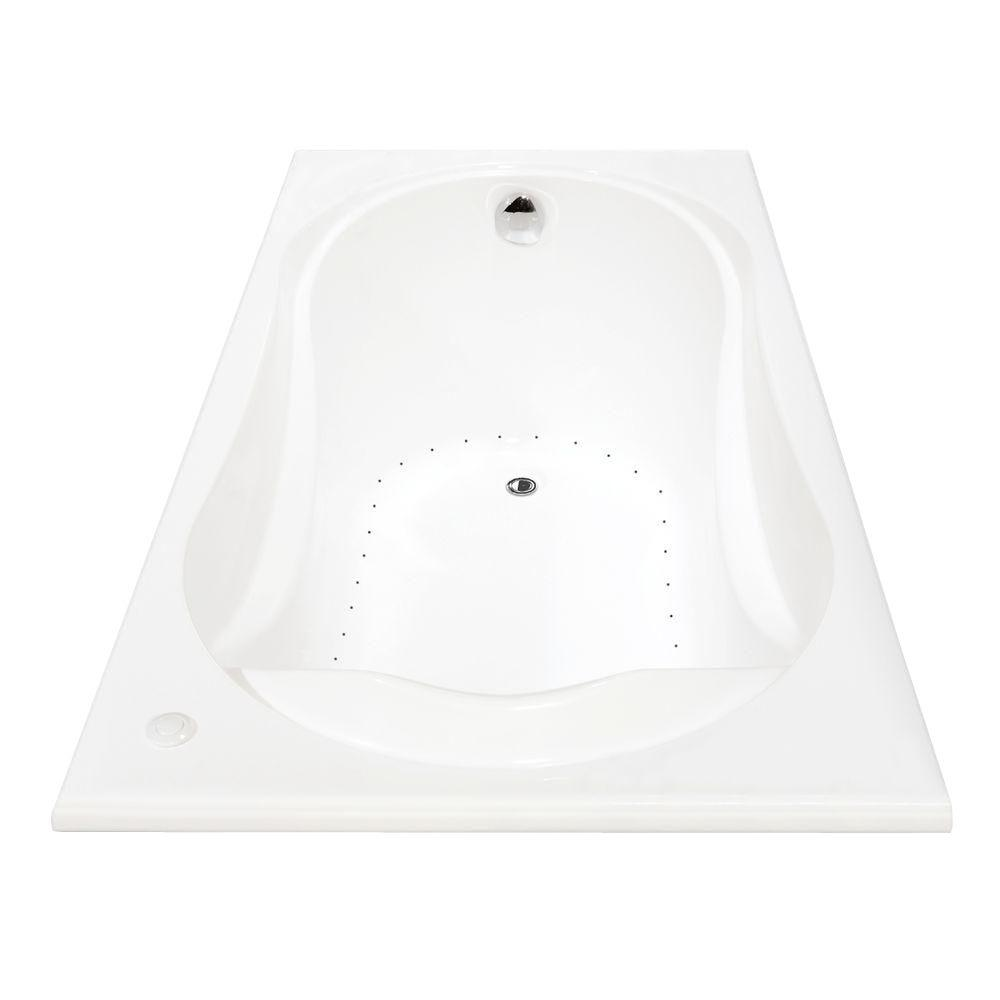 MAAX Cocoon 5 ft. Acrylic End Drain Rectangular Drop-in Air Bath Tub ...