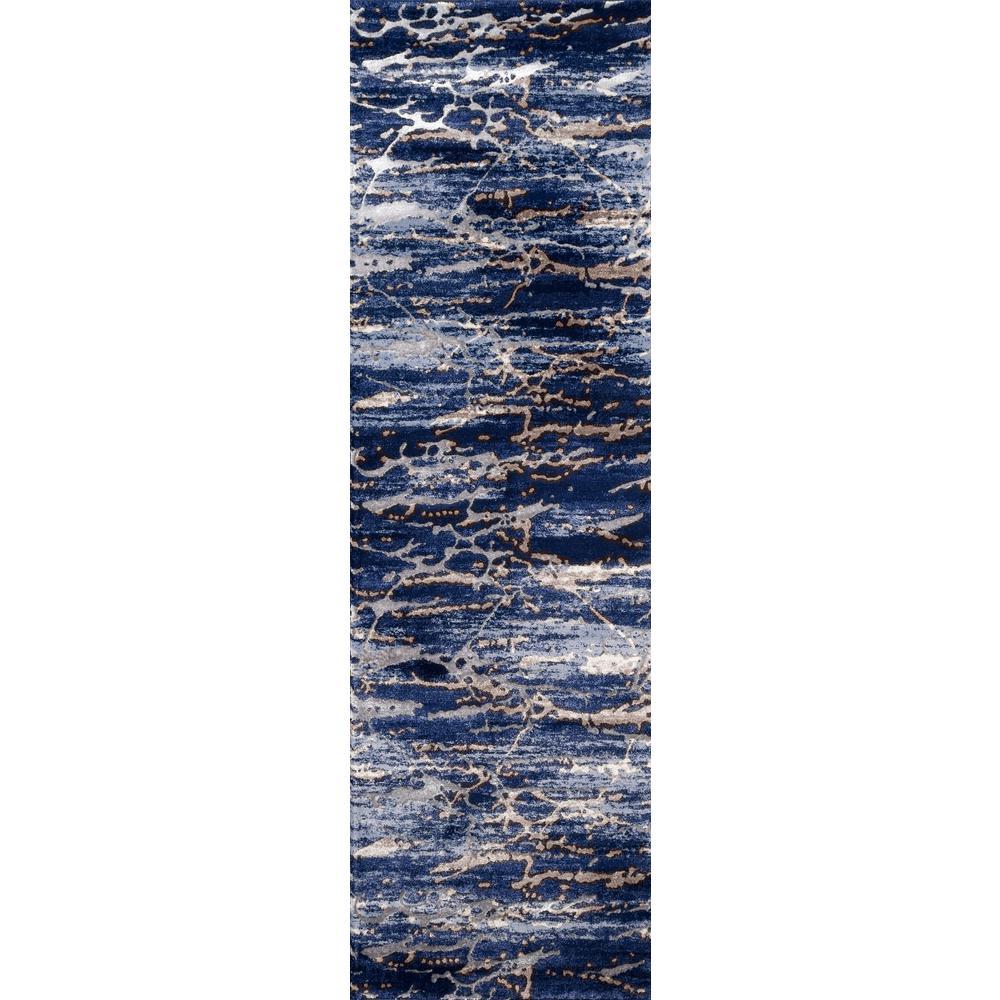 Momeni Monterey Blue 2 ft. x 8 ft. Indoor Area Rug