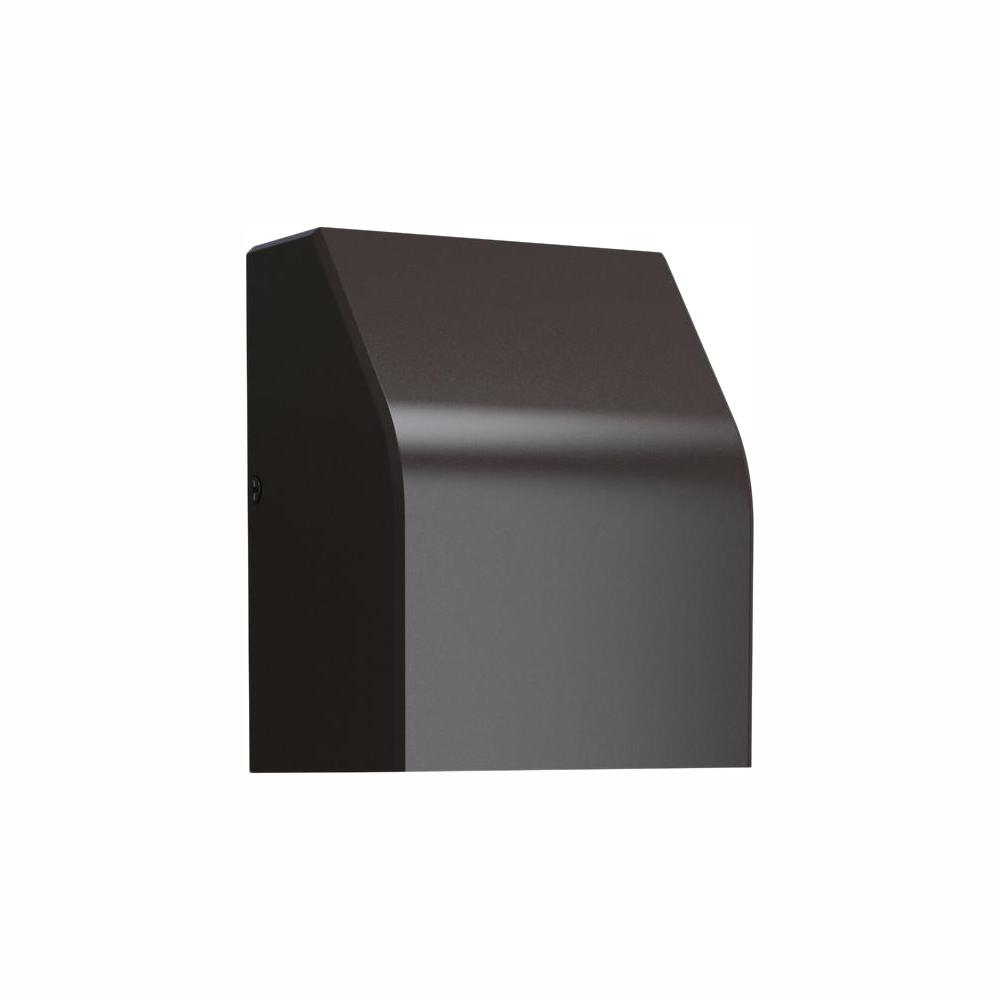 LBL Lighting Neutrino 1-Light Bronze Outdoor 6 in. Integrated LED Wall Lantern Sconce