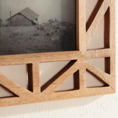 Home Decorators Collection Wooden Geometric Picture Frames (Set of 3)