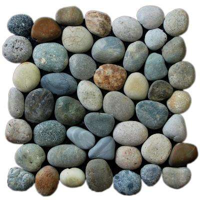 Classic River Grey 11.5 in. x 11.5 in. x 12.7 mm Indonesian Pebble Mesh-Mounted Mosaic Tile (10.098 sq. ft. / case)