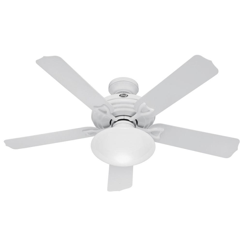 Hunter Beaufort 52 in. Indoor/Outdoor White Ceiling Fan-DISCONTINUED