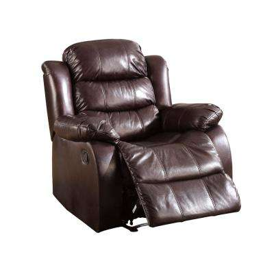 Valderra Rustic Brown Leatherette Recliner Chair