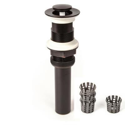 1.25 in. DecoDRAIN Push Closing (Flushed Cap)Pop-Up Drain w/ Hair Catcher, Plated ABS Body No Overflow Oil Rubbed Bronze