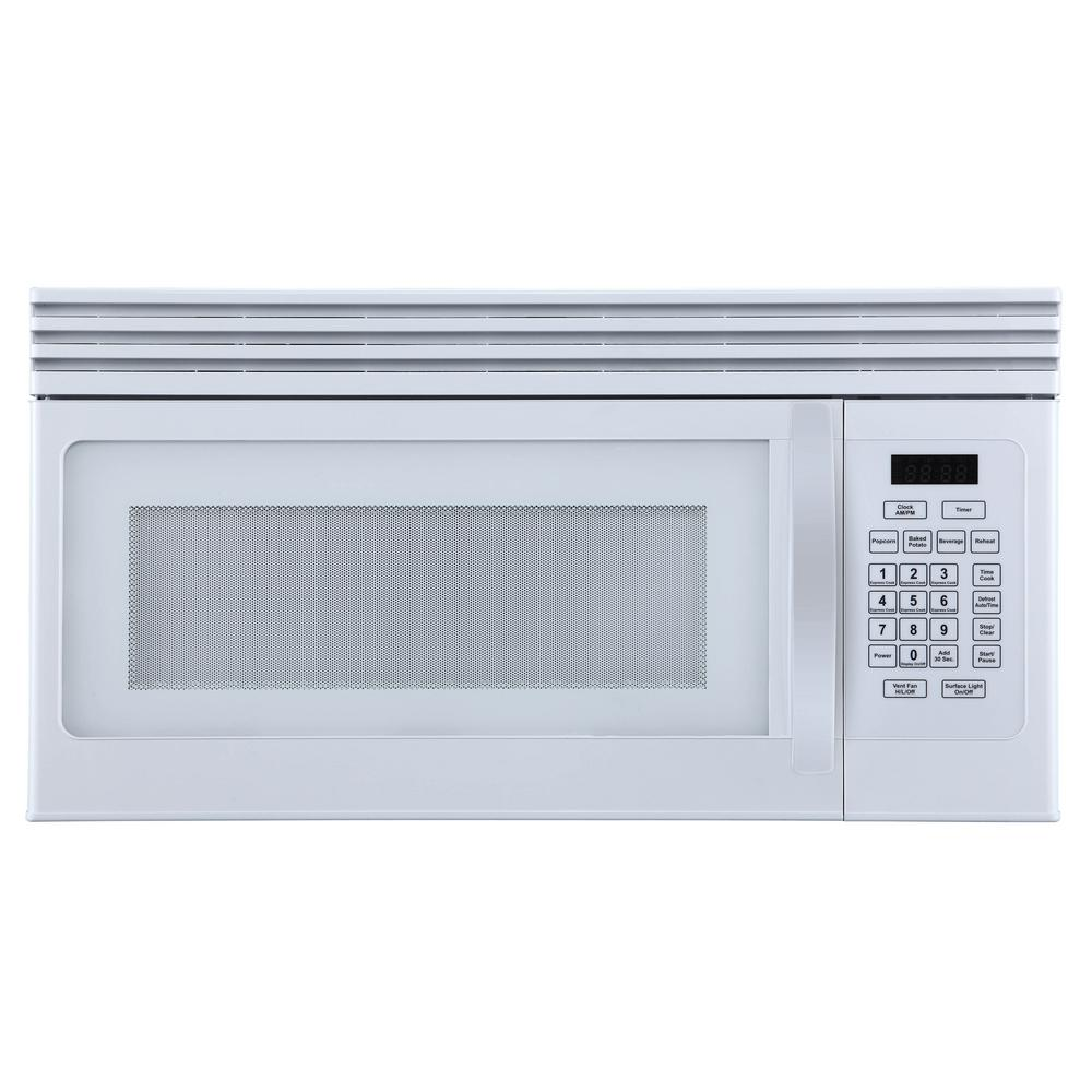 BLACK+DECKER 1.6 cu. Ft. Over-the-Range Microwave with Top Mount Air Recirculation Vent in White