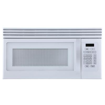 Hotpoint 1 6 Cu Ft Over The Range Microwave In White