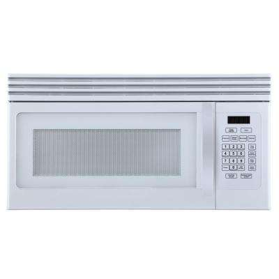 1.6 cu. Ft. Over-the-Range Microwave with Top Mount Air Recirculation Vent in White