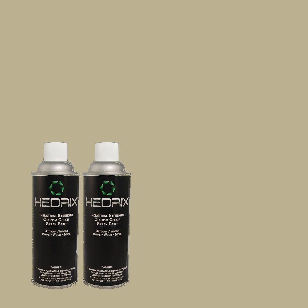 Hedrix 11 oz. Match of MQ6-27 Sage Wisdom Semi-Gloss Custom Spray Paint (2-Pack)