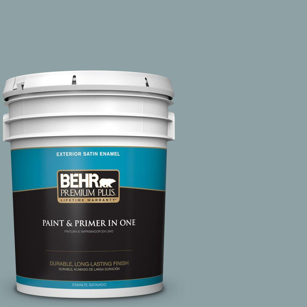 5-gal. #N440-4 October Sky Satin Enamel Exterior Paint