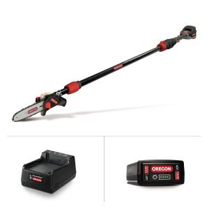 8 in. 40-Volt Electric Cordless Telescoping Pole Saw - 2.6Ah Battery and Charger included